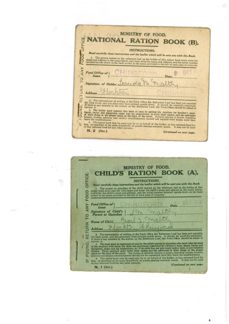 ww1 ration book