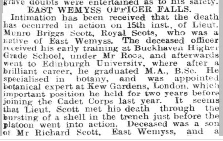 east wemyss officer mbscott