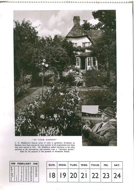 middleton 1940 calendar
