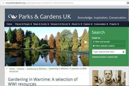 parks and gardens uk ww1 page
