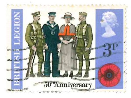british legion stamp 1968